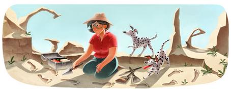 Doodle Google per Mary Leakey
