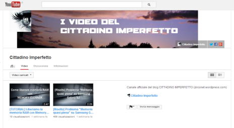 Cittadino Imperfetto su Youtube