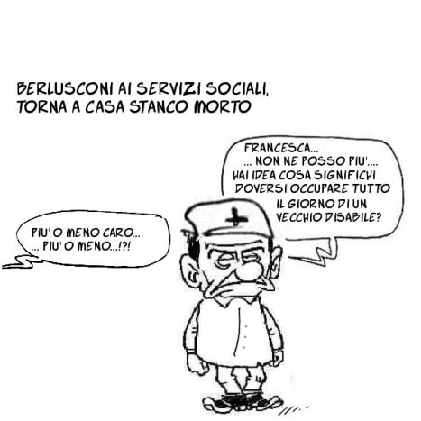 berlusconi ai servizi sociali