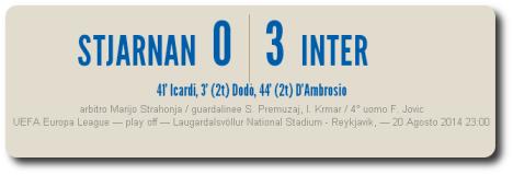 Stjarnan-Inter 0-3